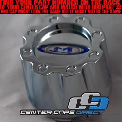 353K83 Moto Metal Wheels Chrome Center Cap NEW