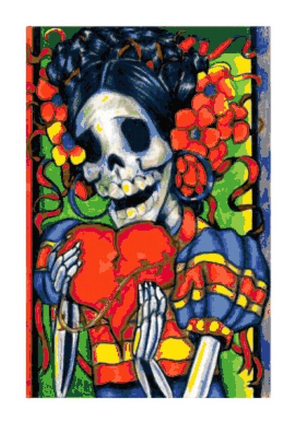 Dia De Los Muertos Day of the Dead Cross Stitch Pattern