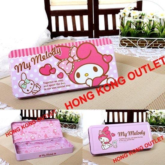 My Melody Metal Pencil Box Case Sanrio Hello Kitty L36b