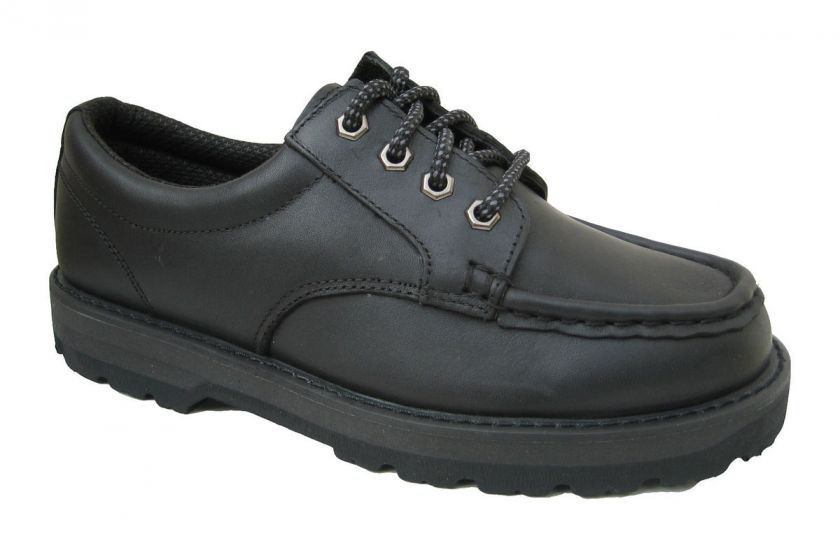 La Vega Men Black Leather Casual Work Walking Shoe Moc Toe Oxford 3460